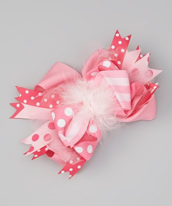 Pink Feather Bow