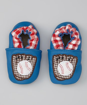 Blue Baseball Booties