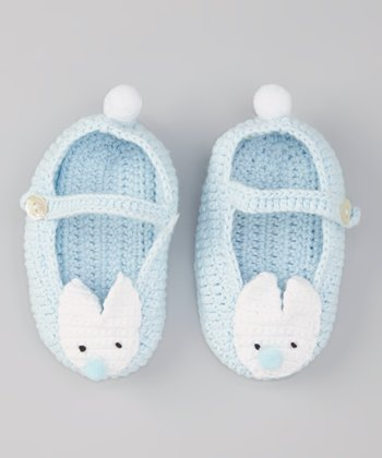 Blue Bunny Crochet Booties