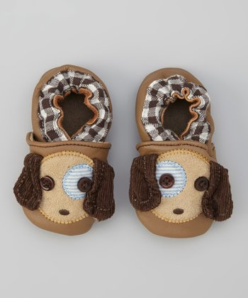 Brown Button Puppy Booties