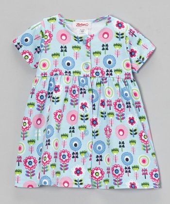Blue Bird Dizzy Daisy Button-Up Dress - Infant