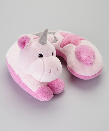 Pink Unicorn Travel Pillow