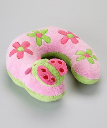 Pink Ladybug Travel Pillow