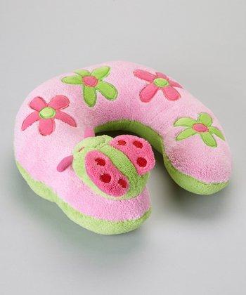 Baby Essentials Pink Ladybug Travel Pillow