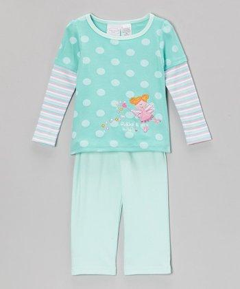kathy ireland Aqua 'Make a Wish' Fairy Layered Top & Pants - Infant