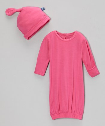 Candy Gown & Single-Knot Beanie - Infant