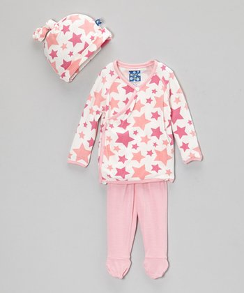 Pink Stars Wrap Top Set - Infant
