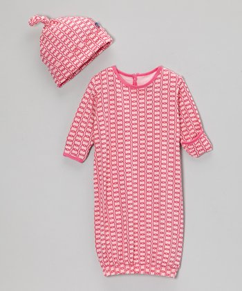 Lotus Rings Gown & Single Knot Beanie - Infant