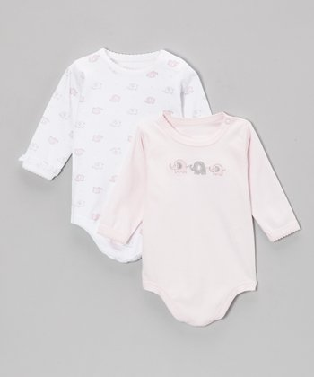 Pink Elephant Bodysuit Set - Infant