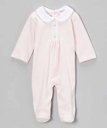 Pink Grace Smocked Footie - Infant