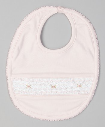 Pink Grace Smocked Bib