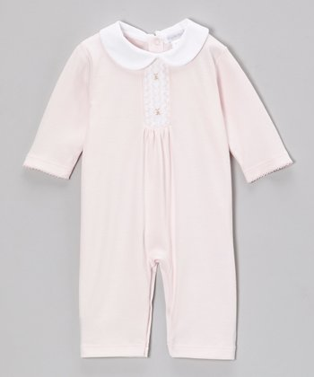 Pink Grace Smocked Playsuit - Infant