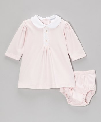Pink Grace Smocked Dress & Diaper Cover - Infant