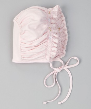 Pink Sabrina Shirred Bonnet