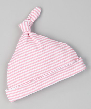 Pink Sweet Stripe Single-Knot Beanie