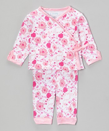 Pink Meadow Delight Wrap Top & Pants - Infant