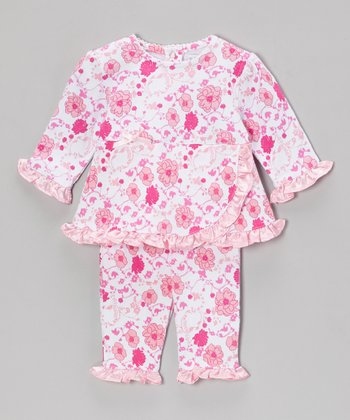 Pink Meadow Delight Ruffle Top & Pants - Infant