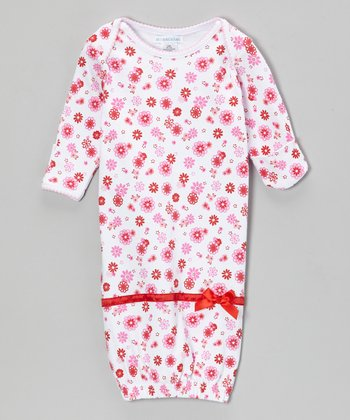 Pink & Red Garden Gown - Infant