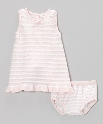 Pink Stripe Sundress & Diaper Cover - Infant