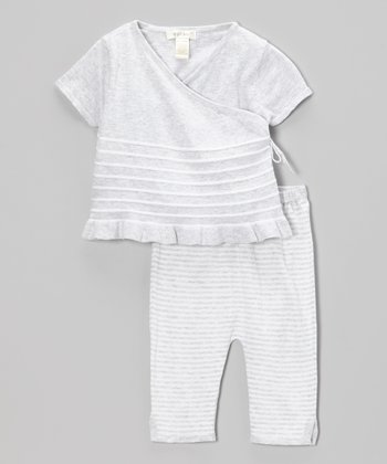 Gray Stripe Top & Leggings - Infant