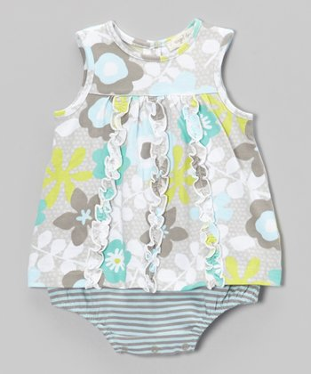 Hazel Flower Skirted Bodysuit - Infant