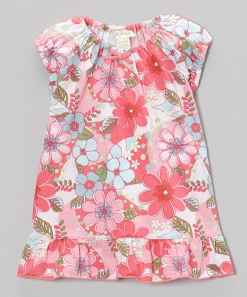 Pink Savannah Ruffle Dress - Toddler