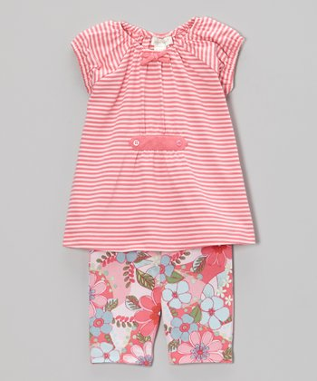 Pink Savannah Top & Capri Pants - Toddler