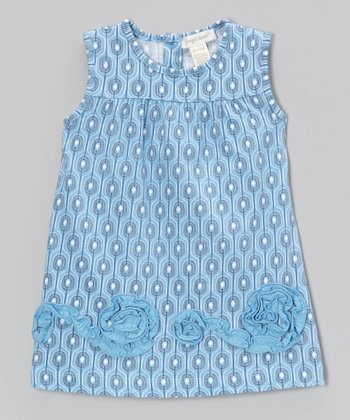Blue Villa Swirl Swing Dress - Toddler