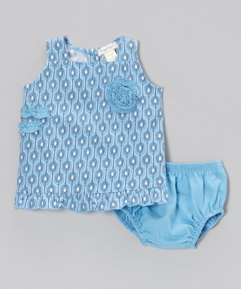 Blue Villa Swing Dress & Bloomers - Infant