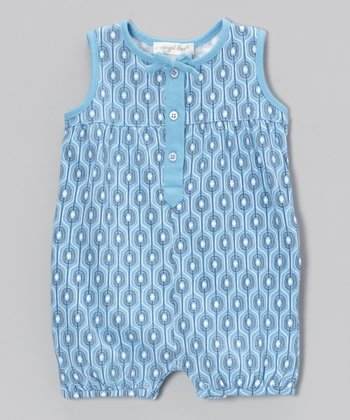 Blue Villa Bubble Romper - Infant
