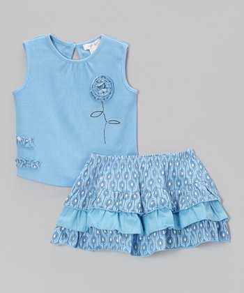 Blue Villa Tank & Ruffle Skirt - Infant