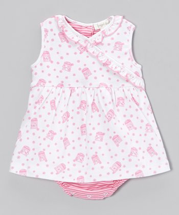 Pink Babette Ruffle Skirted Bodysuit - Infant