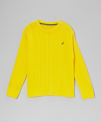 Dayglow Cable Crew Sweater - Boys