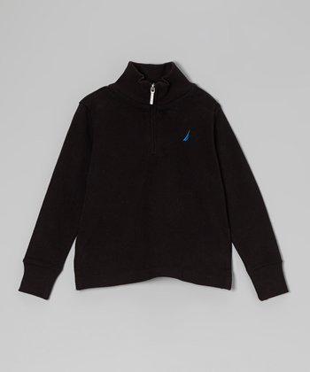 Deep Black Long Sleeve Pullover - Toddler