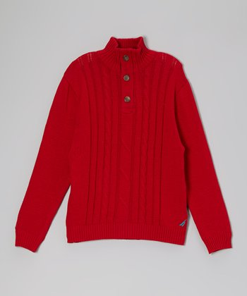 Cherry Button Pullover Sweater - Boys