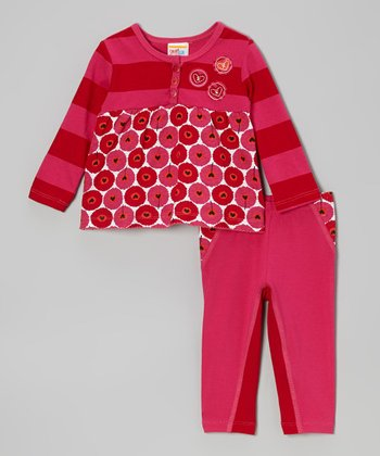 Red Floating Hearts Tunic & Leggings - Infant, Toddler & Girls
