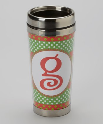 Green Polka Dot & Red 'G' Tumbler