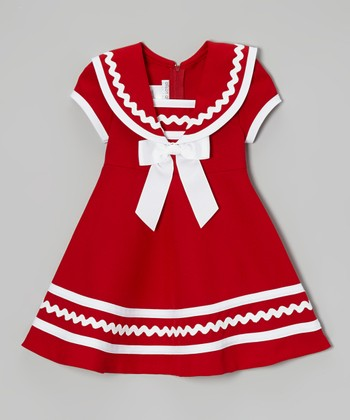 Red & White Sailor Dress - Infant, Toddler & Girls