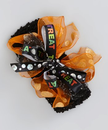 Orange & Black 'Trick or Treat' Headband