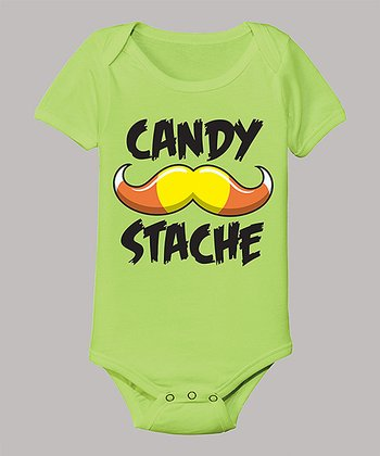 Key Lime 'Candy Stache' Bodysuit - Infant