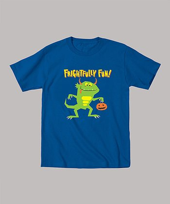Royal Blue 'Frightfully Fun' Monster Tee - Toddler & Boys