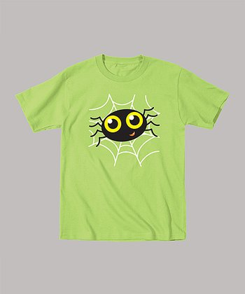 Key Lime Spider Tee - Toddler & Kids