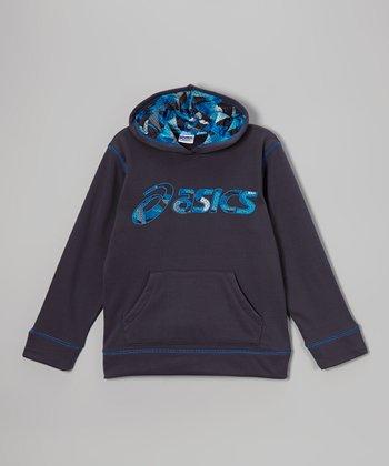 ASICS Dress Blues Running Back Hoodie - Boys