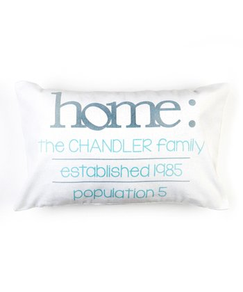 White Personalized Home Definition Pillow