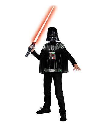 Black & Gray Darth Vader Dress-Up Set - Boys