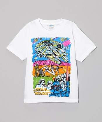 White Star Wars Color Me Tee - Boys