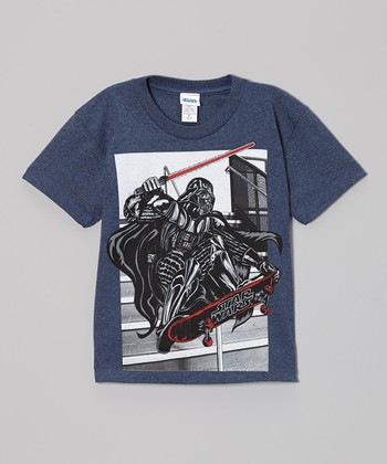 Navy Star Wars Darth Jump Tee - Boys