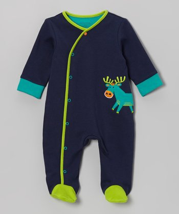 Navy Forest Footie - Infant