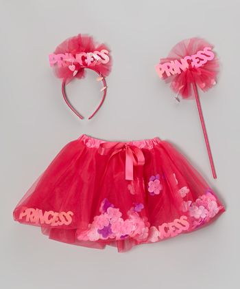 Fuchsia Princess Skirt Set - Girls