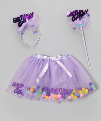 Lilac Birthday Skirt Set - Girls